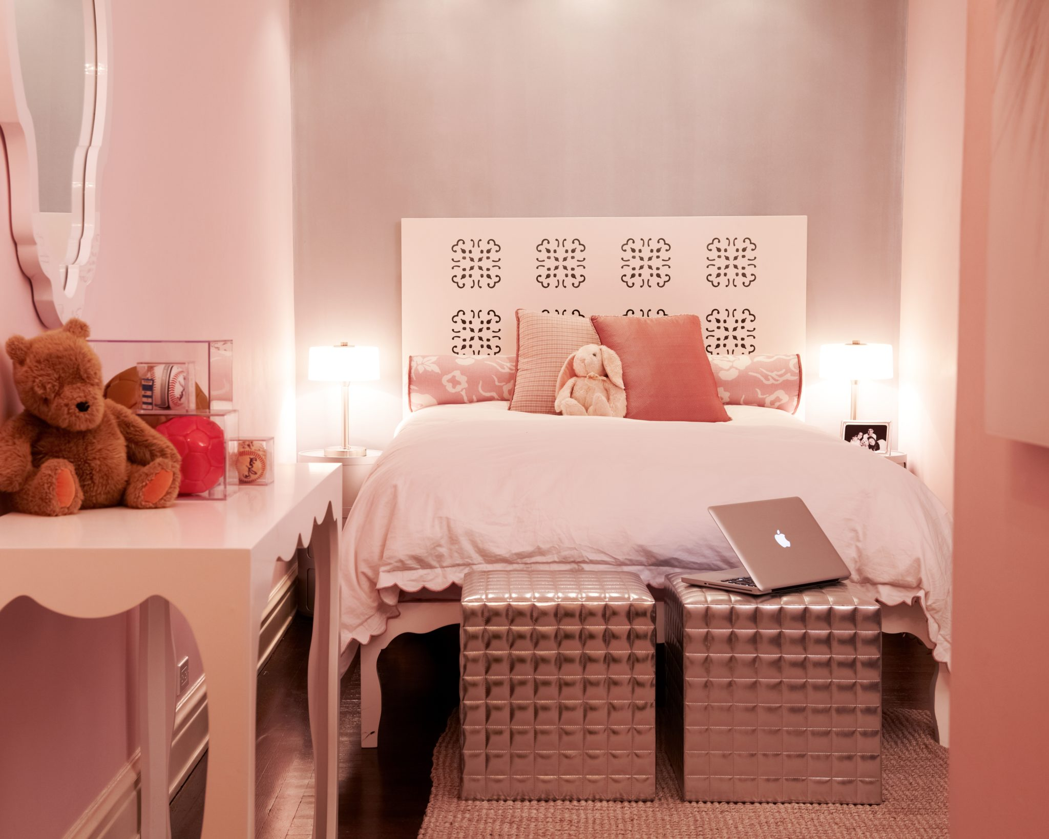 "Carolyn Rebuffel Designs  Carolyn Rebuffel of Carolyn Rebuffel Designs coaches her clients to get outside their comfort zone if they're nervous to try something new that they love. Rebuffel also suggests ways that they can try a trend without sacrificing the home's overall style for years to come. ""Millenial pink paint can be easily changed, but a millenial pink sofa is going to be dated and dirty fairly quickly,"" she says, and offers another example. ""Brass hardware in the right context is beautiful, but brass hardware for the sake of popularity may not be the best choice.""  In this bedroom for a young girl in New York City, Rebuffel included trends that were also practical — such as the white lacquered furnishings that could be easily wiped clean. ""Knowing the client's daughter as I did, I felt that it had to be comfortable and practical as well as girly and current,"" she says."