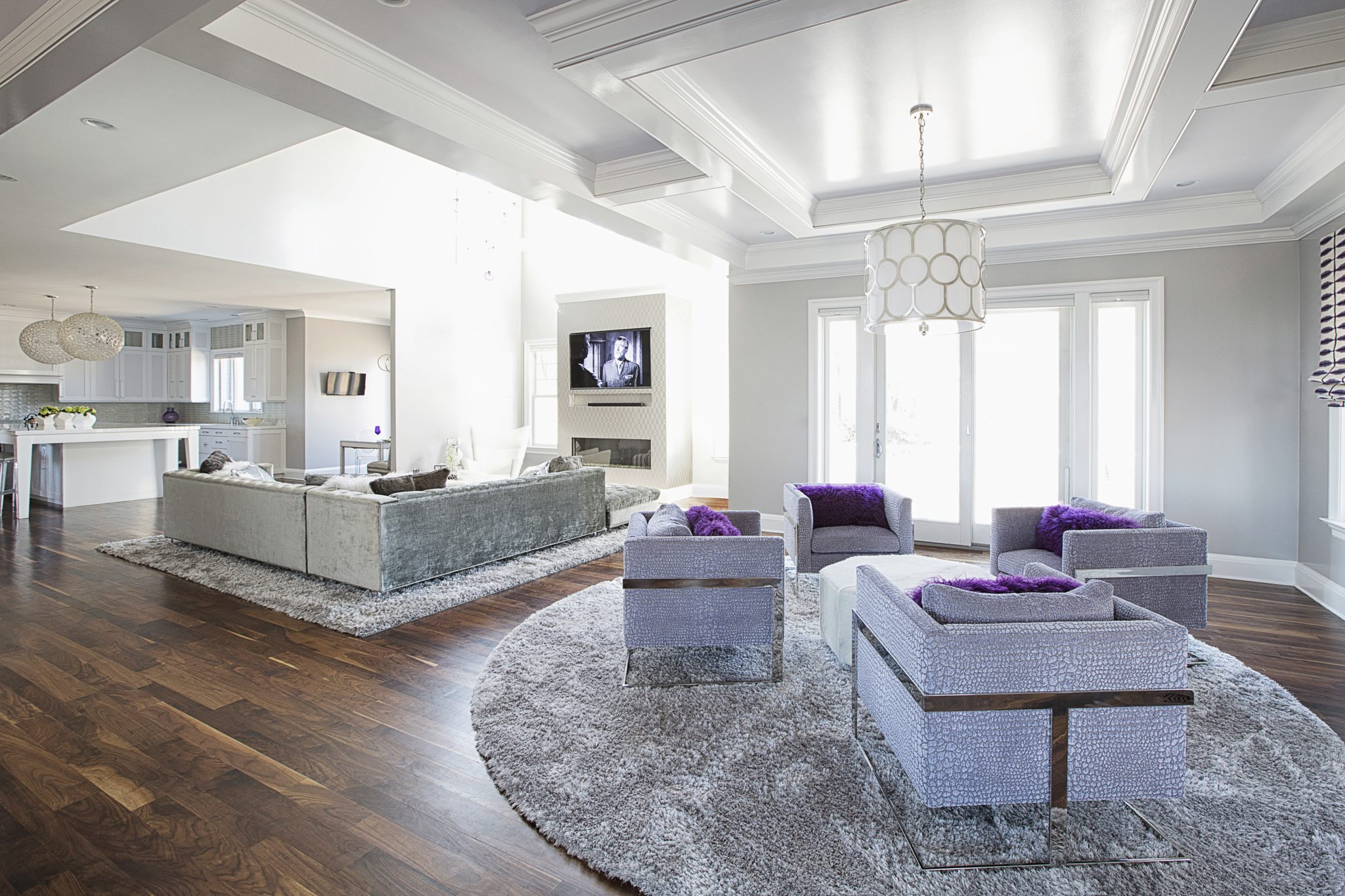 Open floor plan - great for entertaining! By Laura Michaels Design