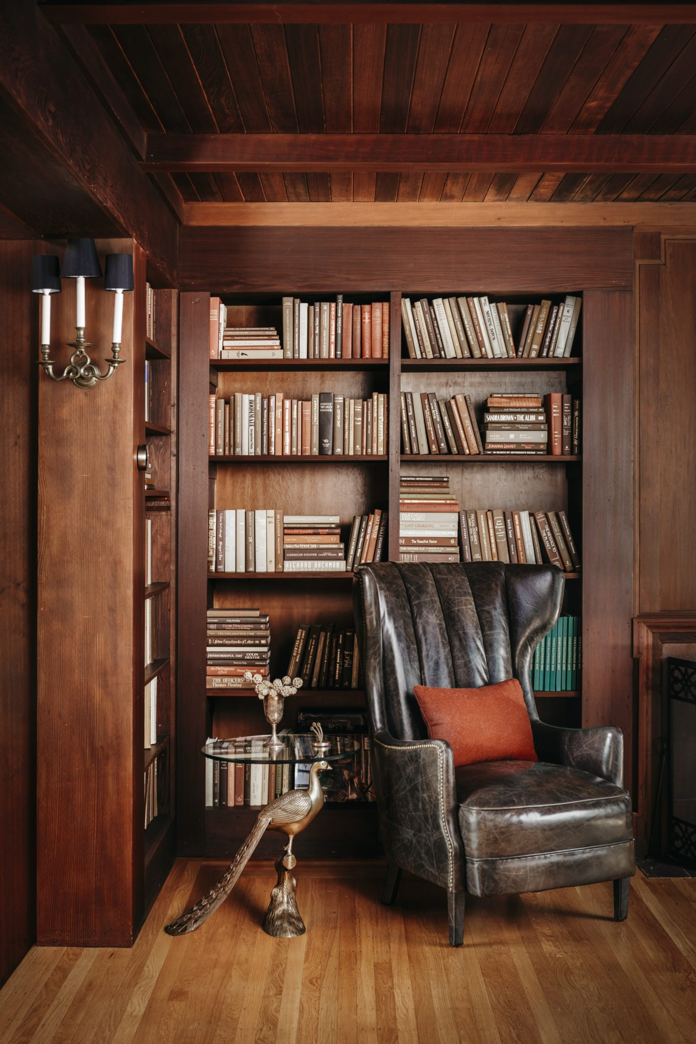 An armchair from HD Buttercupprovides a perfect place for reading.