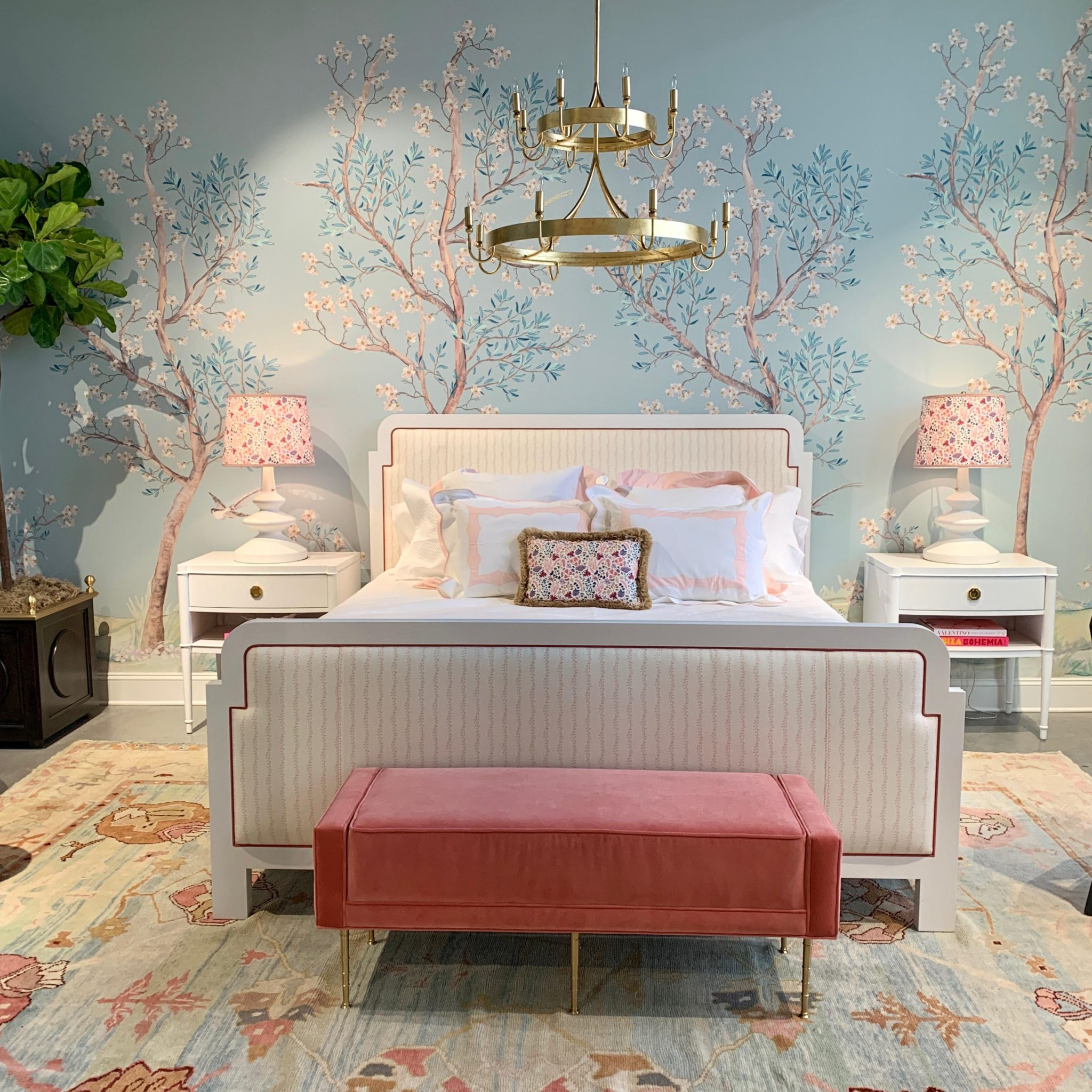 """""""Hillside,"""" a new hand-drawn panel wallpaper, was debuted at High Point Market."""