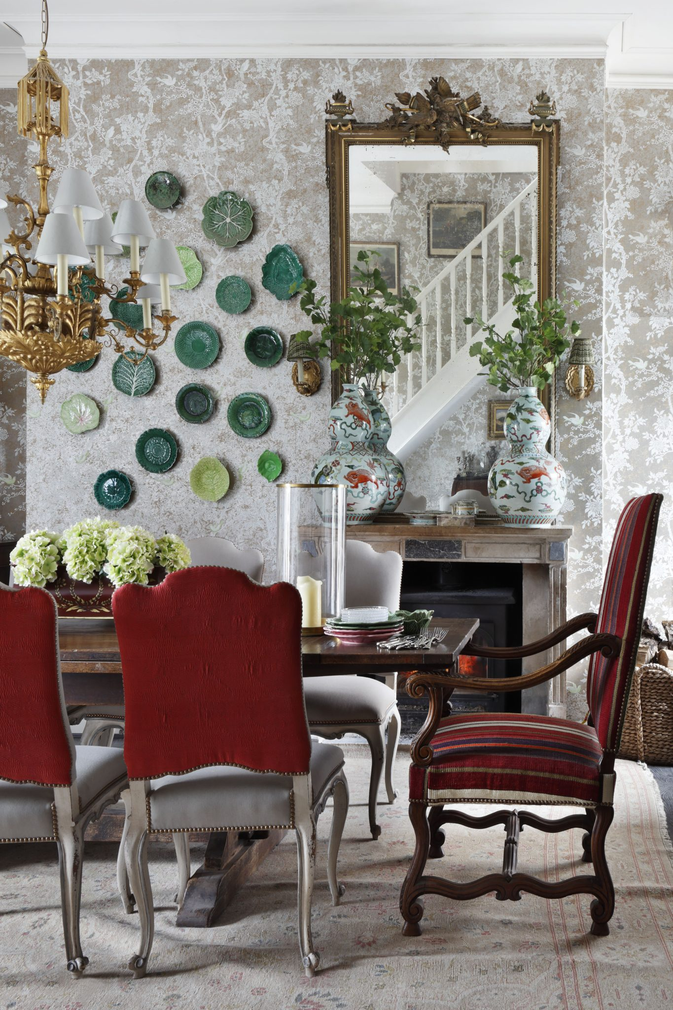 "VSP Interiors  Henriette von Stockhausen of VSP Interiors is not a fan of trends. Instead, she prefers to choose the style and furnishings based on what's right for the client's space. Trends often tend toward excess, as extremes stand out more on social media, and von Stockhausen particularly dislikes over-the-top ""pattern mixing for its own sake."" When she looks at an overly maximalist room, she sometimes thinks, ""that would drive me so mad that I couldn't live there."" She adds, ""The eye needs to find a place to rest in an interior rather than endlessly wander, in my opinion.""  That said, von Stockhausen isn't shy about splicing together styles with restraint. And often, a designer's style may align with trends; as the designer notes, the wall-hanging green plates in the above room seem trendy, but ""this was a collection of plates that we hung together for some fun,"" not to follow a trend."