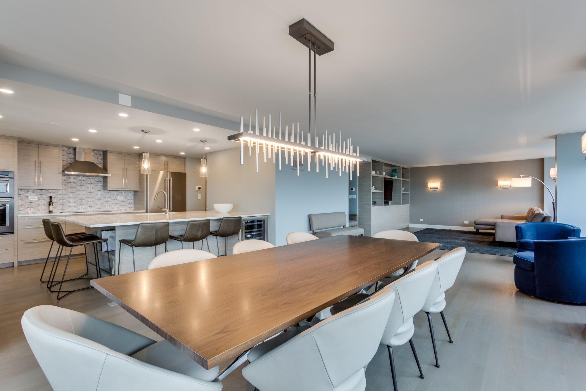 Modern Gold Coast condo with open floor plan by Rae Duncan Interior Design