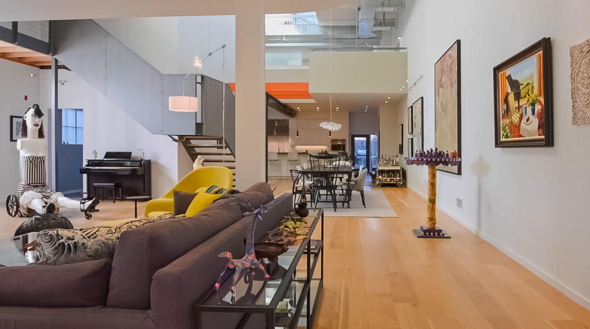 Cambridge, MA, open loft interior by Huth Architects