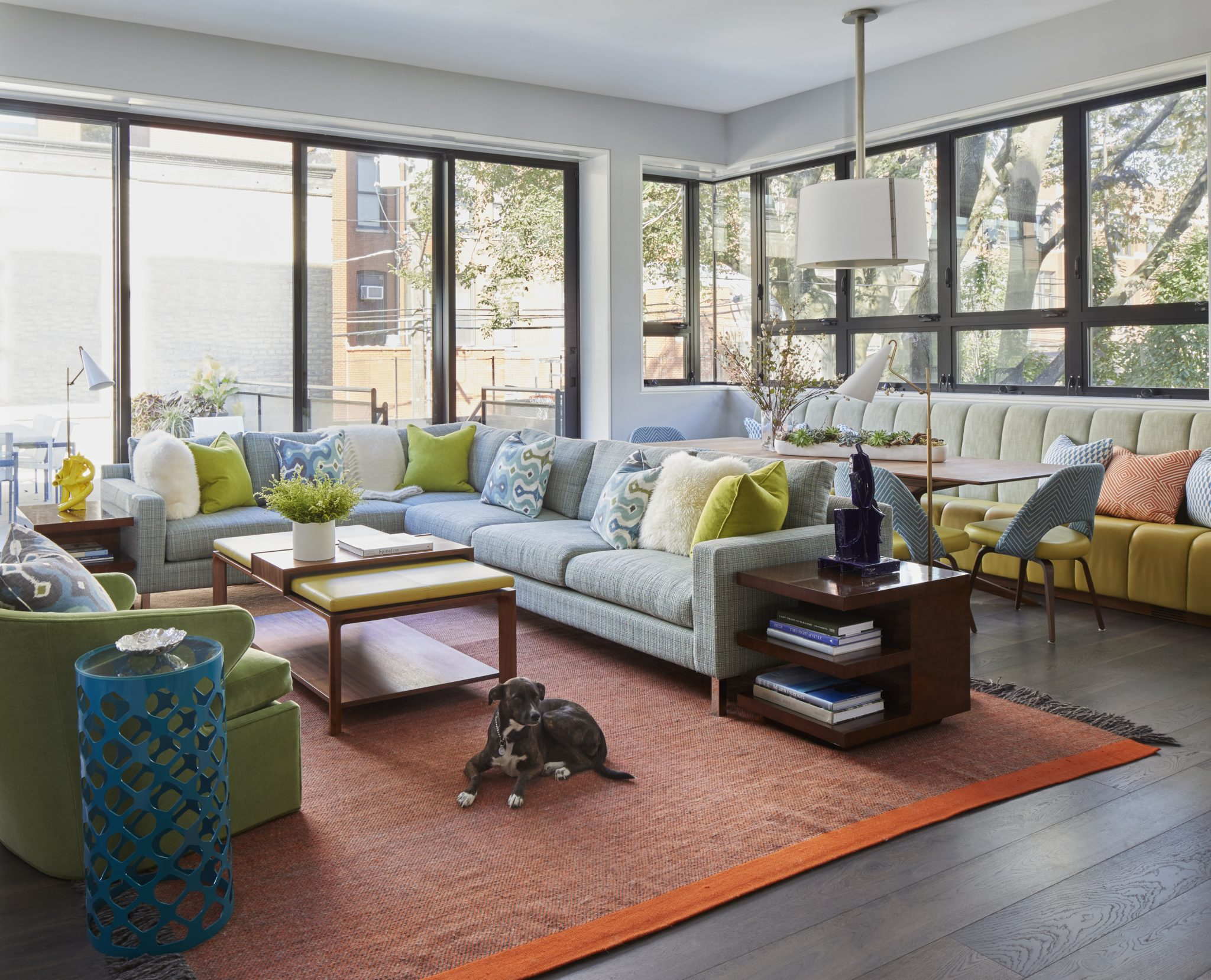 Historic Lincoln Park contemporary family room. by James Thomas Interiors