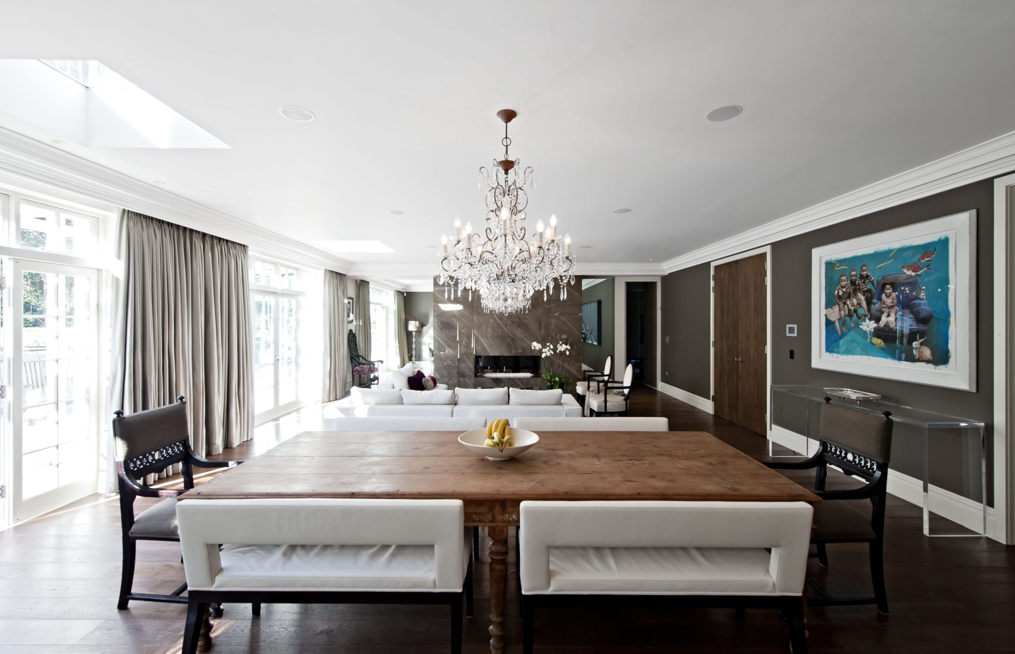 Highgate House open kitchen and living area by KNOF design