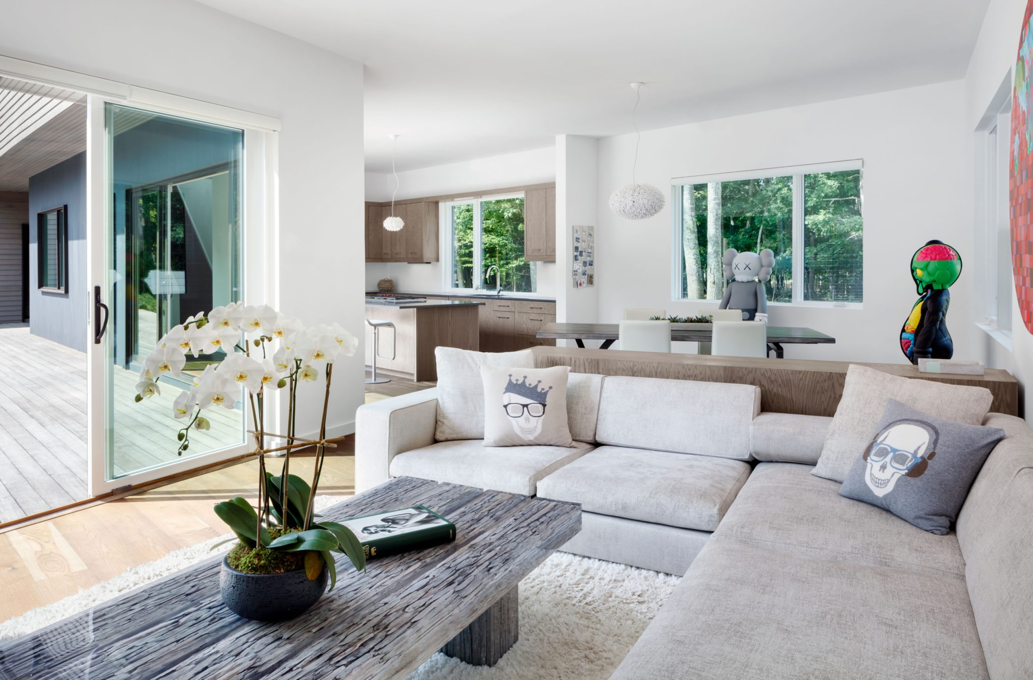 Springs residence in the Hamptons - open living area by Cass Calder Smith | CCS Architecture