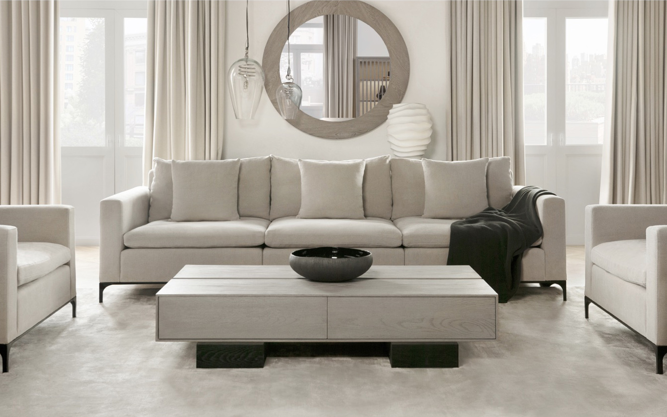 On the other side of the spectrum, British designer Kelly Hoppen is known for neutral hues and playing with rich textures and unique materials. Hoppen has been designing for Sonder Living since their launch in the U.S. market and has over 100 pieces in production with the brand.