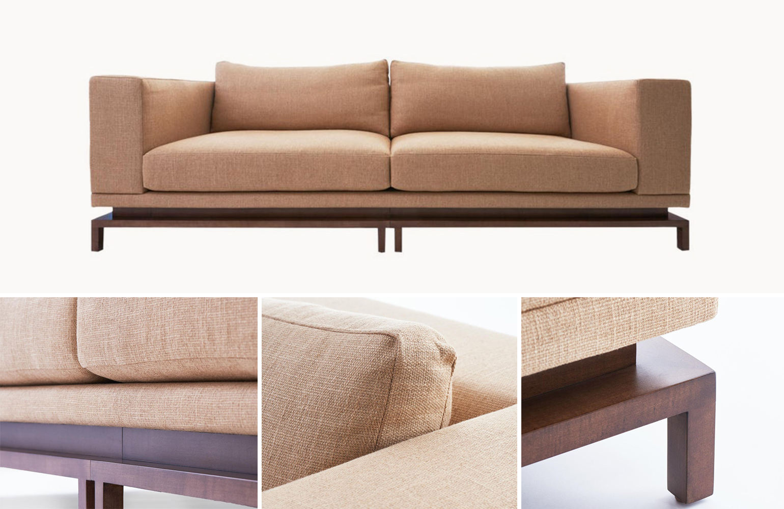 Q: What sort of customization do you offer on the pieces you develop?  A: Every item we have created exists with the understanding that it needs to work within varied interpretations of environment and aesthetic. We have the ability to offer multiple sizes, finishes and species of wood —with all fabrics and leathers to the customer's own specon our upholstered pieces. On the Luz lighting series, the bronze can be finished in a variety of patinas.   Q: What kinds of products are you looking to create next?  A: We are very excited to be expanding our Luz lighting series, as well as adding a lounge chair variation to the Flotar seating. We will be adding to the overall collection with a series of coffee tables by Spring 2020, and are in the preliminary developmental stages of a namesake fabric collection.  To browse Studio 6F's full offering and to learn more about their design services, click here.