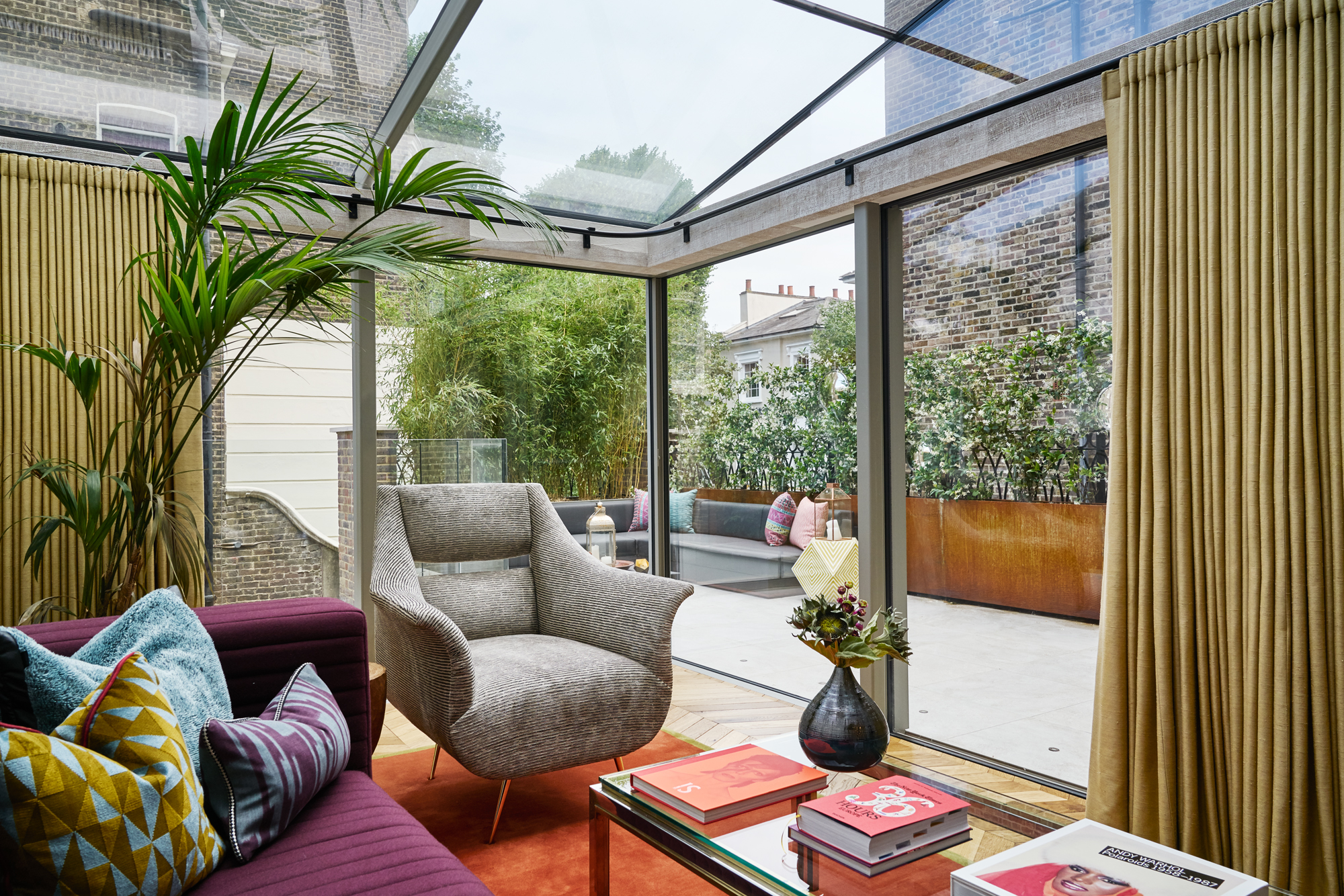 Family Room Extension with a hint of 70's Glam by Studio L, London Ltd