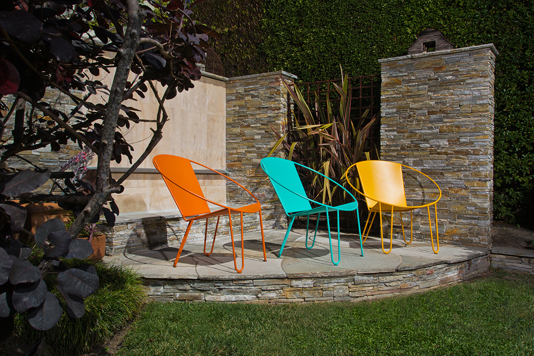 Launching this month, Gary Snyder Designs creates colorful handcrafted furnishings in Santa Cruz.