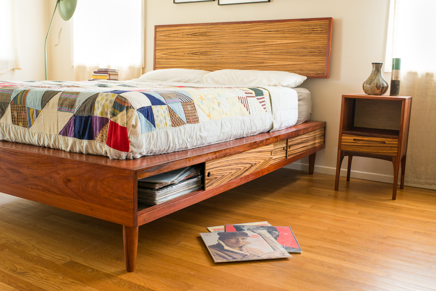Pete Deeble develops handmade wood furniture inhis Long Beach studio including Midcentury-inspired beds, chairs, casegoods, and dining tables.