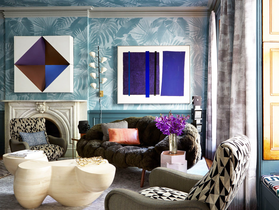 A design by Elena Frampton featuring vibrant artworks