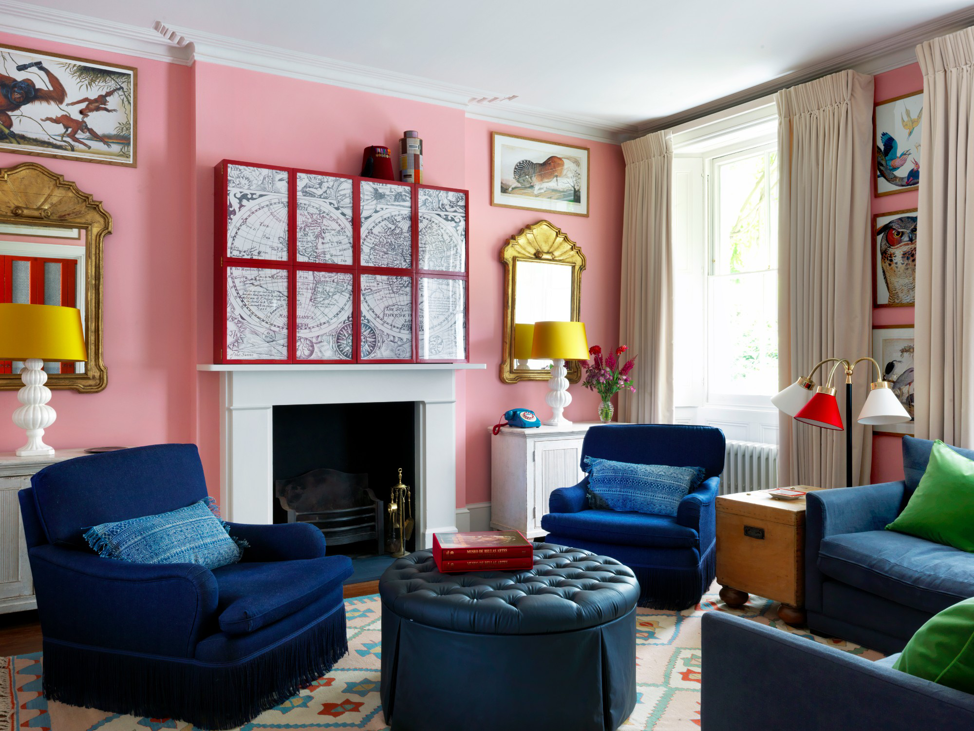 West London House, Living Room by Beata Heuman Ltd.