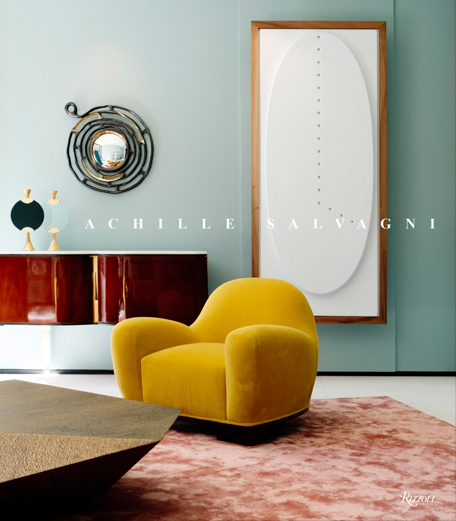 The designers's new book, Achille Salvagni, which was written by Pilar Viladasand published by Rizzoli.