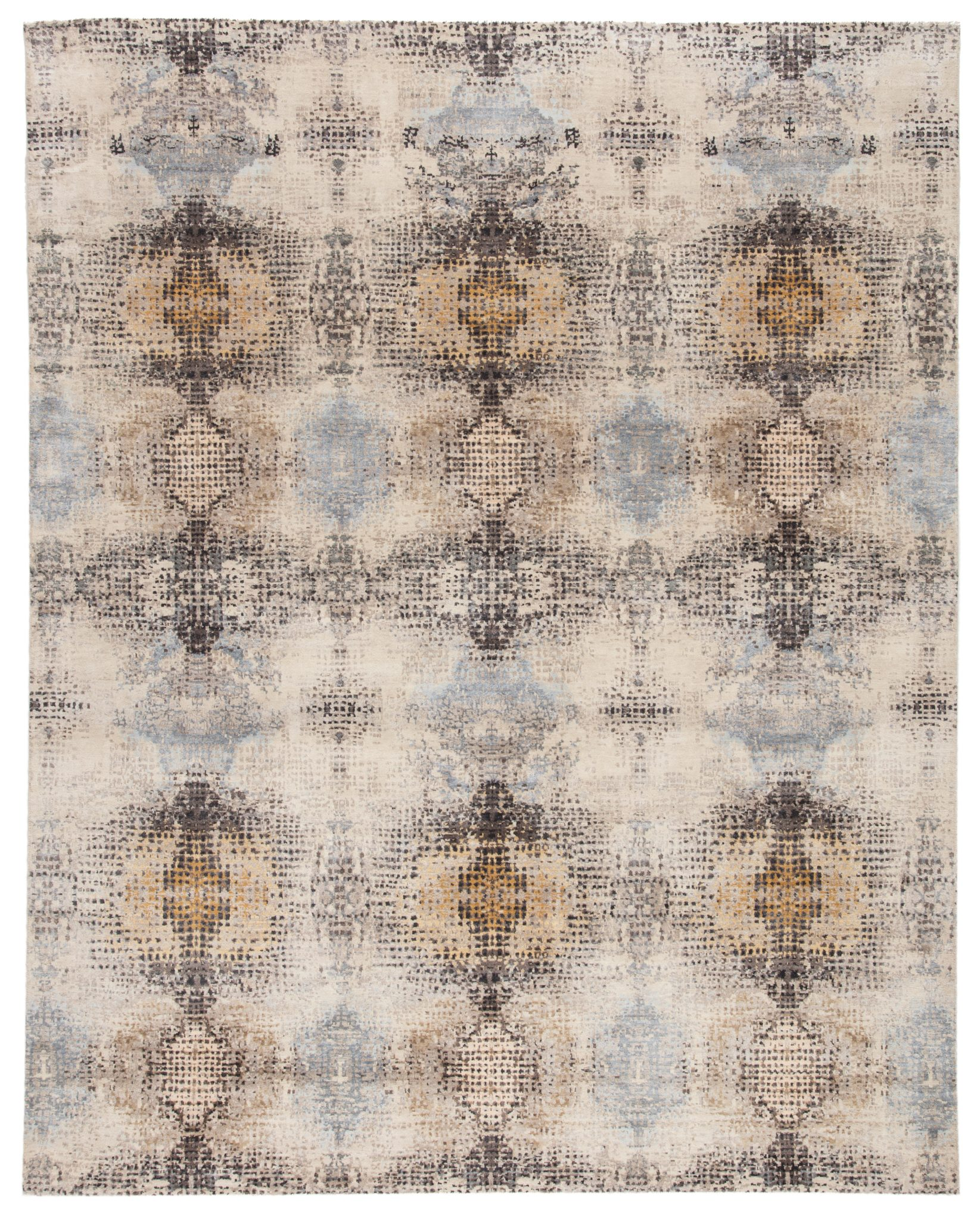 Jaipur Living's Lucida rug is part of the Kaleida by Kavi collection. Made of wool and viscose, the rug has a kaleidoscopic design and a soft feel.