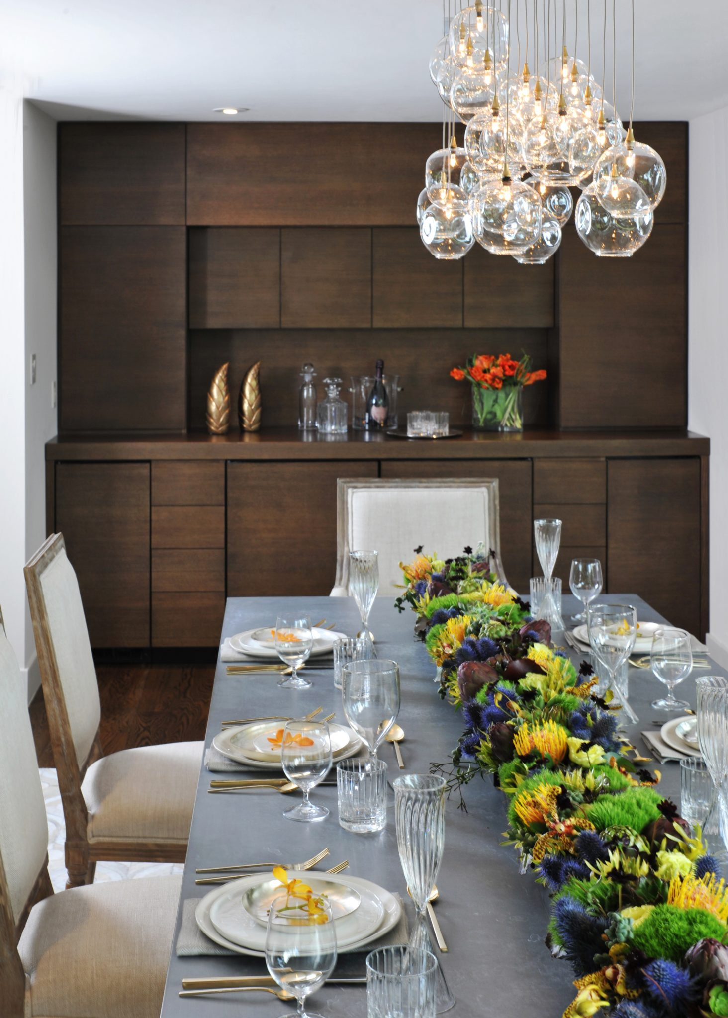 Crest Road Dining Room by Kelley Flynn Interior Design