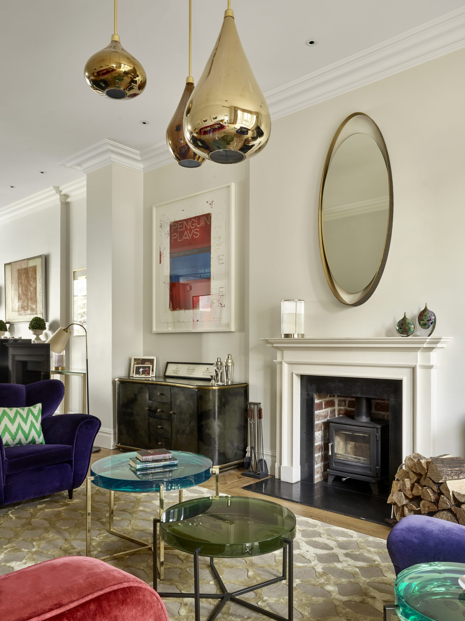 Living Room. Kensington, London by Caz Myers