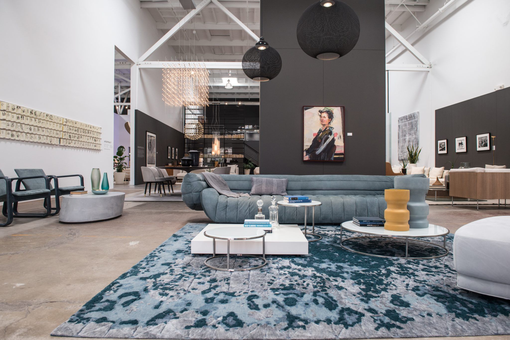"""Known for representing major European brands like FLOS, Boffi, Paola Lenti, and more, DZINE's showroom is also home to smaller family-owned makers. Founder Eve Forbord works to keep these ties to the European market strong. """"Ninety-five percent of our business is in Italian furnishings,"""" Forbord said. """"We go to Salone del Mobile in Milan every year to see new products firsthand and to meet with our manufacturers. It also gives us the opportunity to explore smaller manufacturers and emerging designers who are not represented in the U.S."""""""