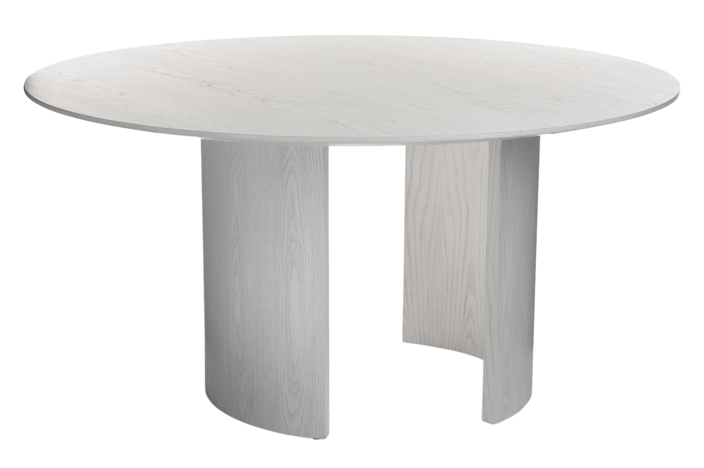 Cecil Round Dining Table. Shown inWhistler White on Ash. Customize with any BRADLEY wood finish.Lead time:8-10 weeks.