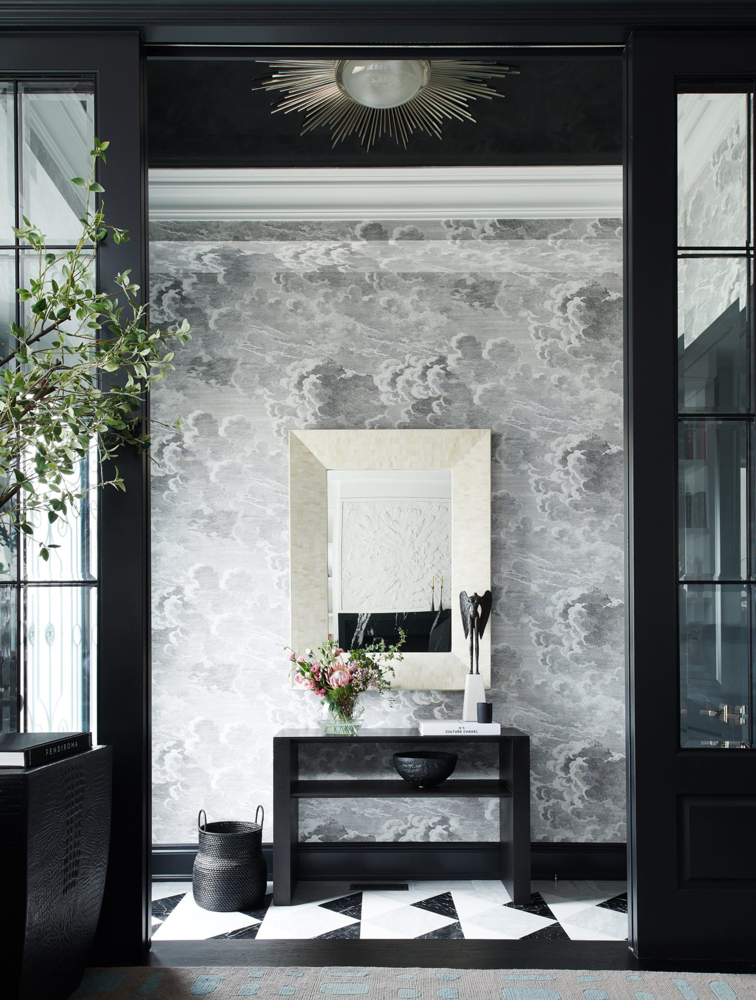 """5. Black Interiors   Add drama to any interior with jet black walls, flooring, or accents. """"Black interiors are an excellent way of creating a dramatic interior, buttheyalso can feel cozy and comfortingif done correctly,"""" saysSvetlana Tryaskina, the principal designer of Estee Design. """"I think designers are going to work with dark interiors in the next year because of the opportunity to create unique and memorable rooms and to showcase a designer's ability to work with textures and color combinations."""""""