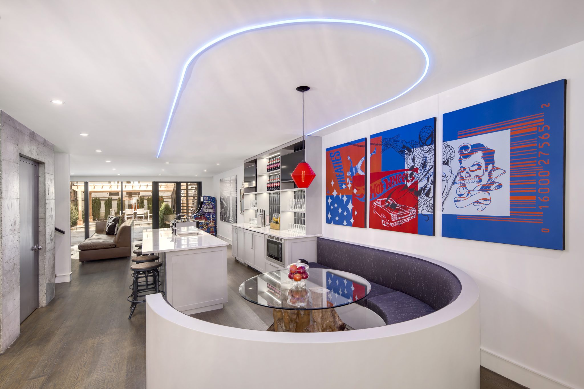 Hell's Kitchen Townhouse, Game Room by Suk Design Group