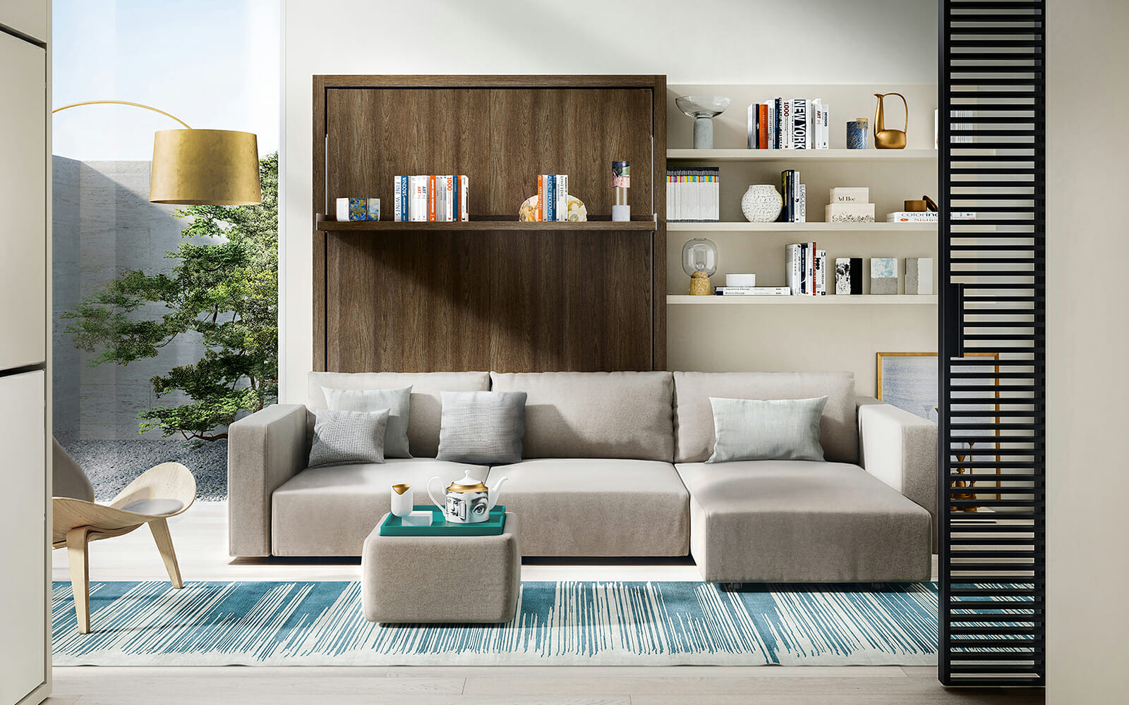 Resource Furniture features a curated selection of space-saving products, including Italian-made Murphy beds, sofas, storage pieces, and other transforming furniture solutions.