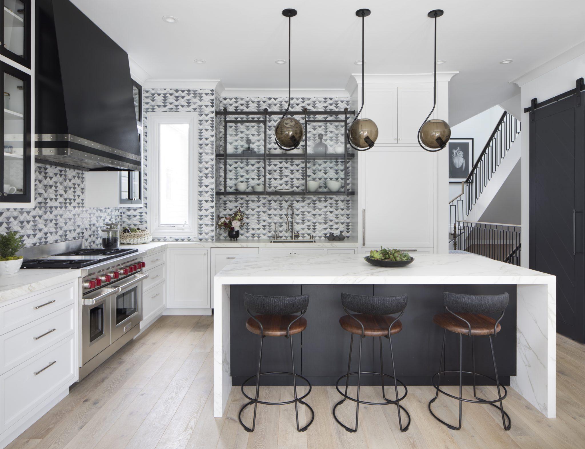 Black & White Kitchen by Jeff King & Company