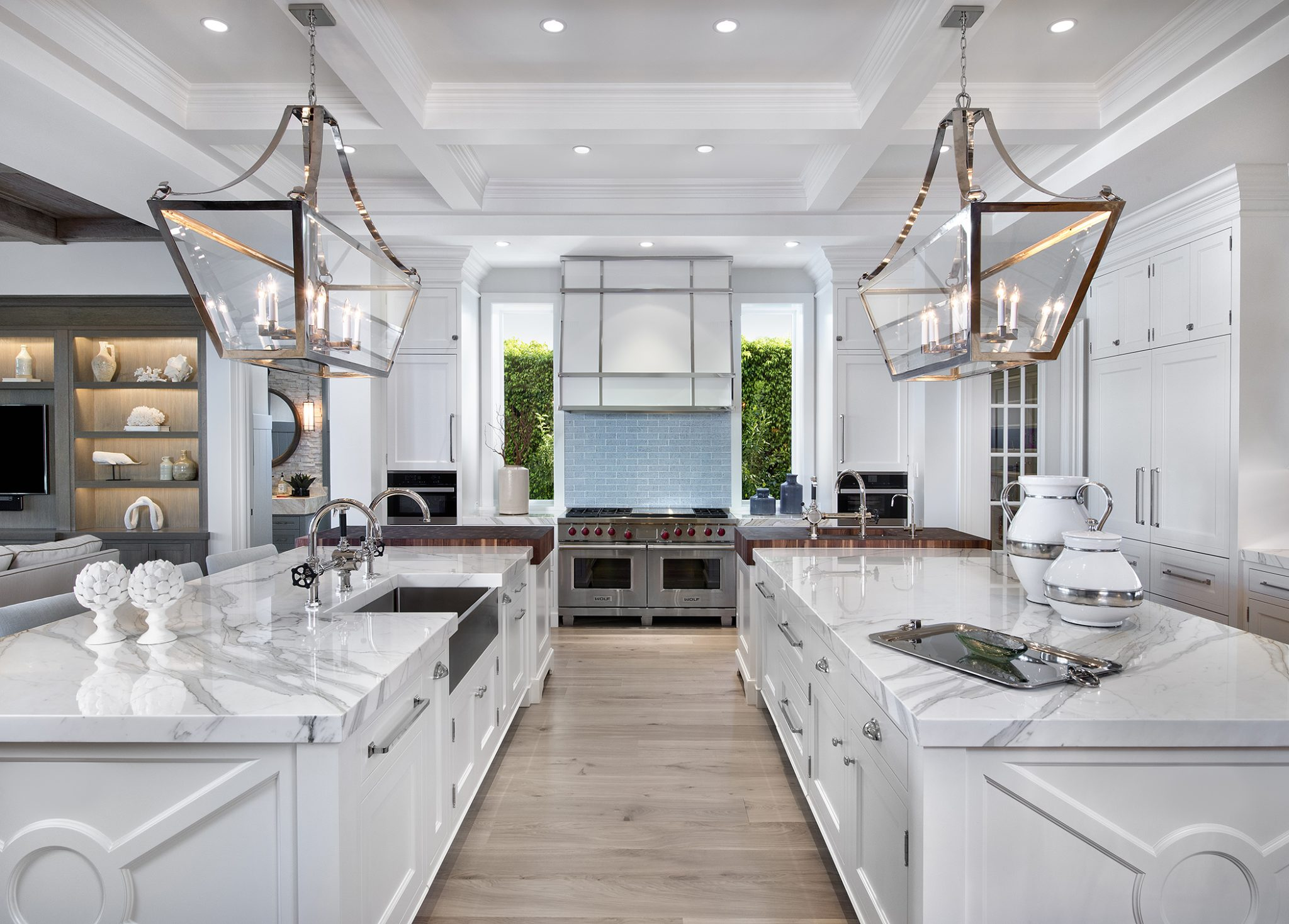 An expansive, colorful kitchen in Naples, Florida, byW Design
