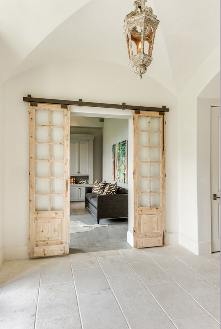 Custom Barn Doors on Tracks by Talbot Cooley