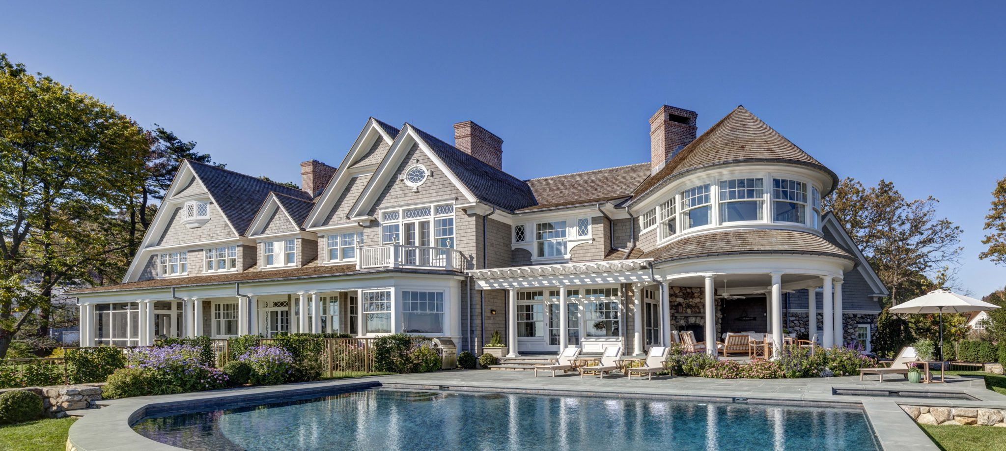New England Shingle Style Residence by Charles Hilton Architects
