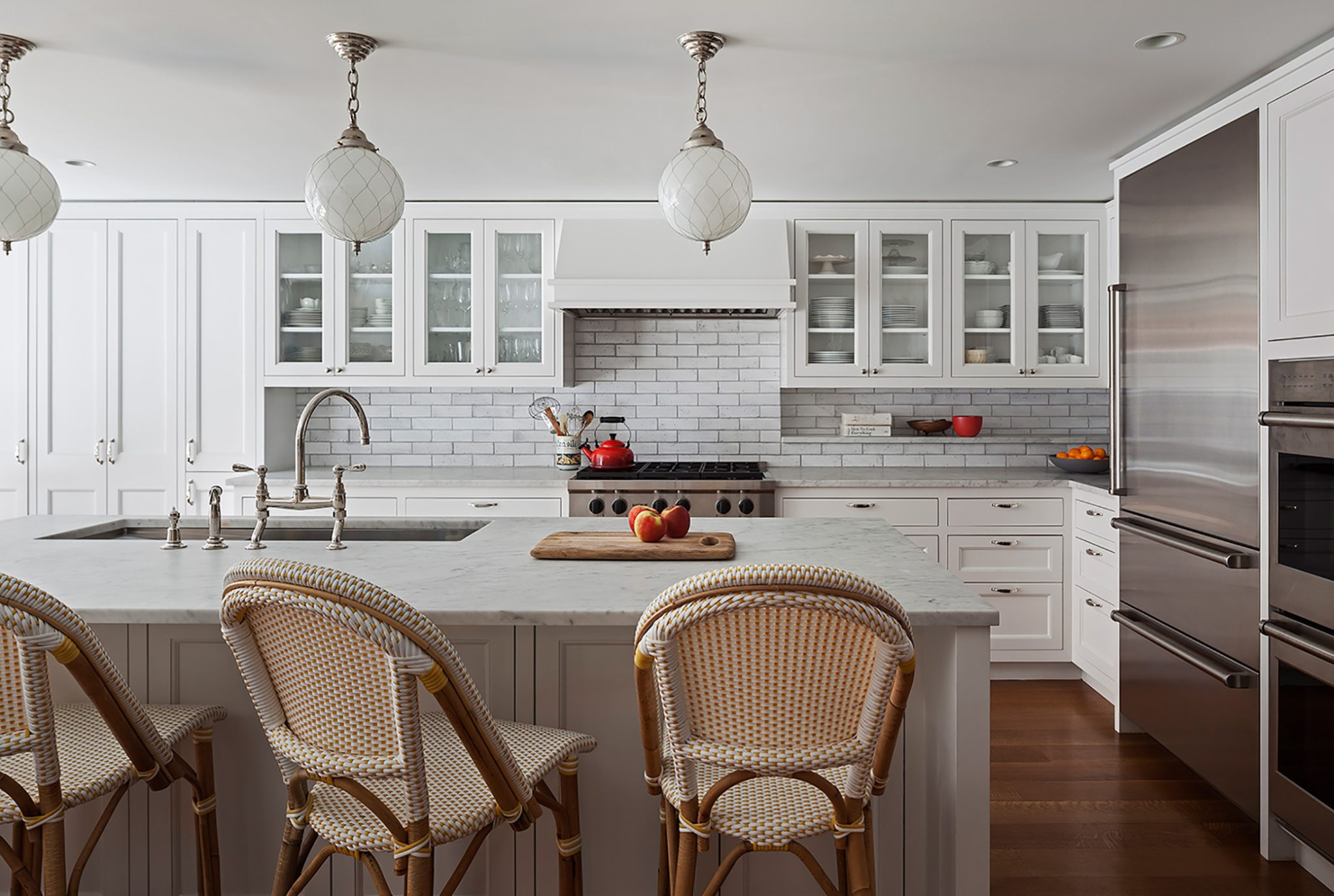 A classic rowhouse kitchen in Boerum Hill, Brooklyn, devised by CWB Architects