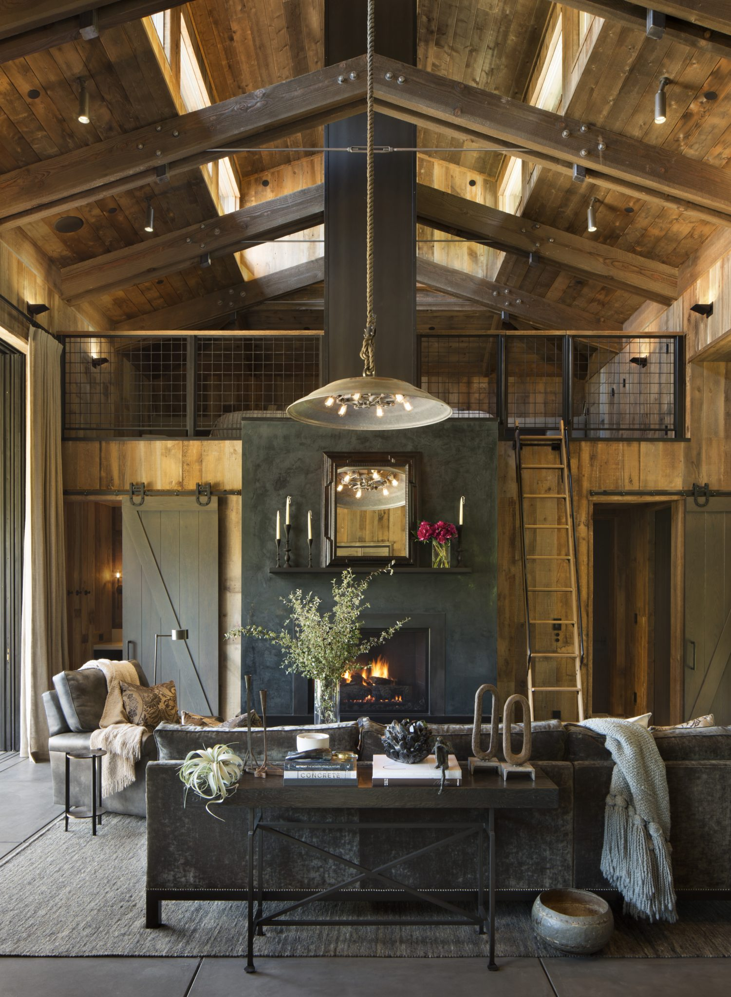 Napa Valley Barn Home by Jennifer Robin Interiors