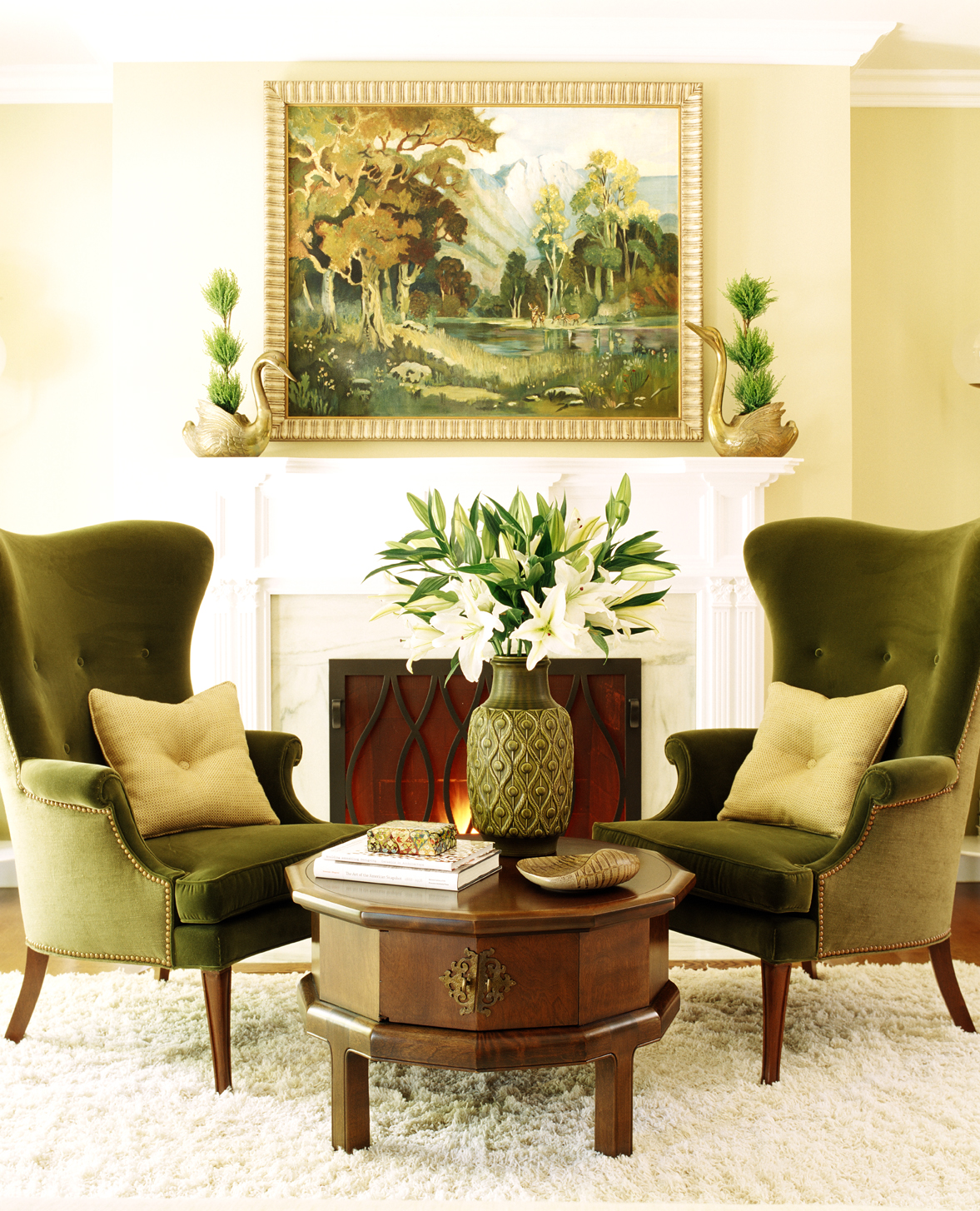 """""""If it doesn't feel like home, it's not complete."""" —Jeff Andrews Design, Los Angeles, California  Favorite Finishing Touches: """"It varies from project to project, but usually the final layer of a room includes accessories and the client's personal items and collections, as well as my own spin with new (or old) things, flowers, and maybe even an artwork shuffle.""""  Design Advice: """"All things in a room make up the whole of the design and add strength to the overall feeling. To me, finishing touches are the small things that can change for any occasion — scented candles, seasonal flowers, and people enjoying a room are the best additions. Every room needs to be pulled together with objects of meaning as well as pieces that bring the color story to life like pillows, framed photos, pottery, and books. If it doesn't feel like home, it's not complete. Fill each room with things you love, things that bring you enjoyment every time you enter the room."""""""
