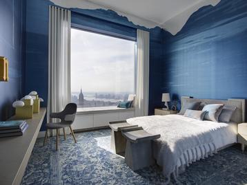 Blue Bedroom by Kelly Behun Studio