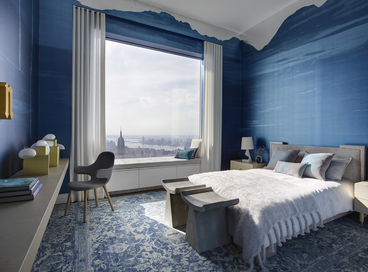 32 Deep Blue Bedrooms