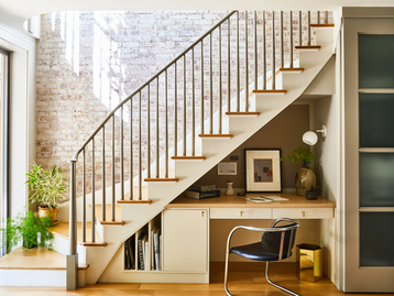 Hudson Street Brownstone I Staircase Nook by J. PATRYCE DESIGN