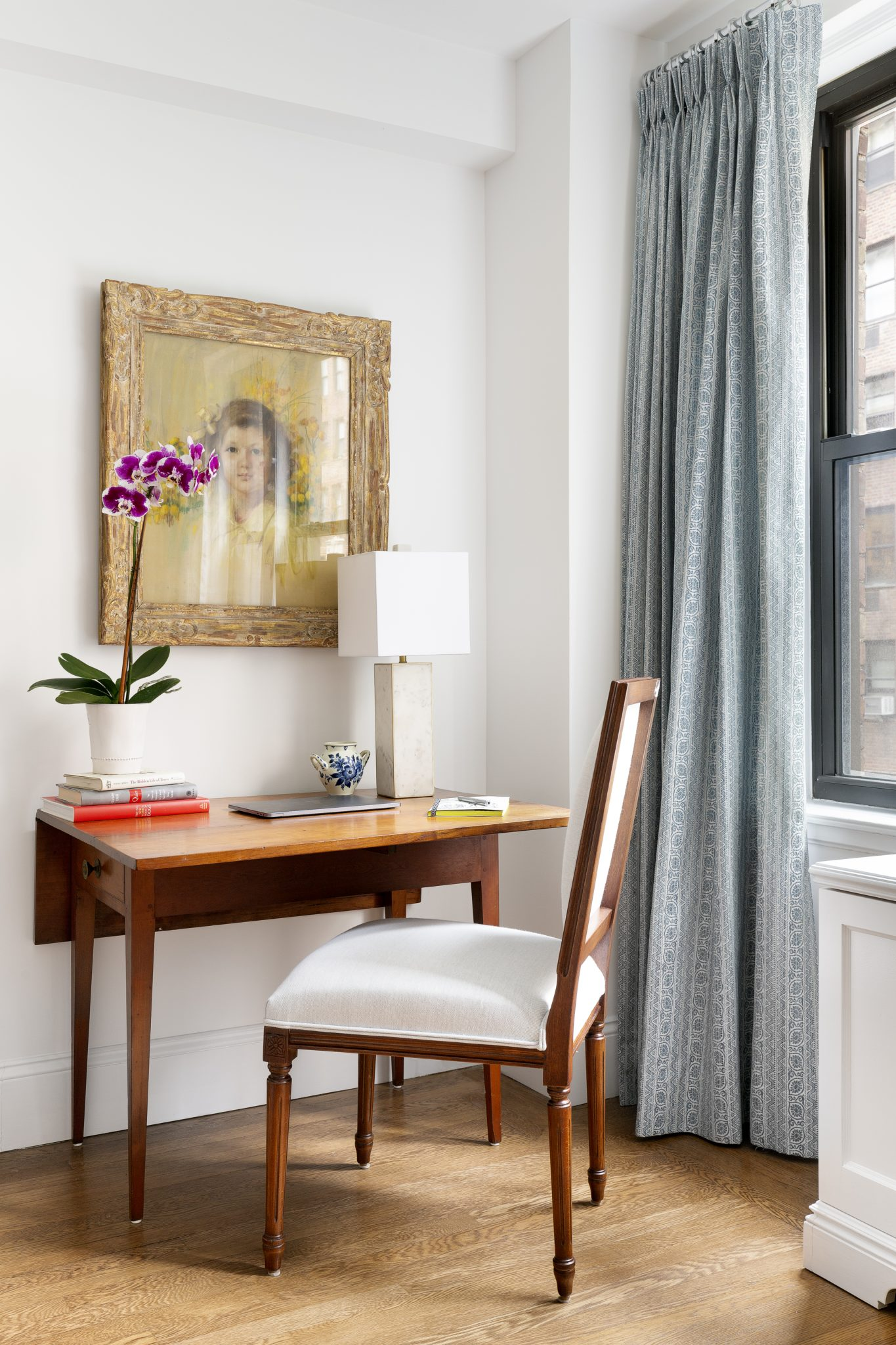 Living Room Office Nook by One Bleecker Interiors
