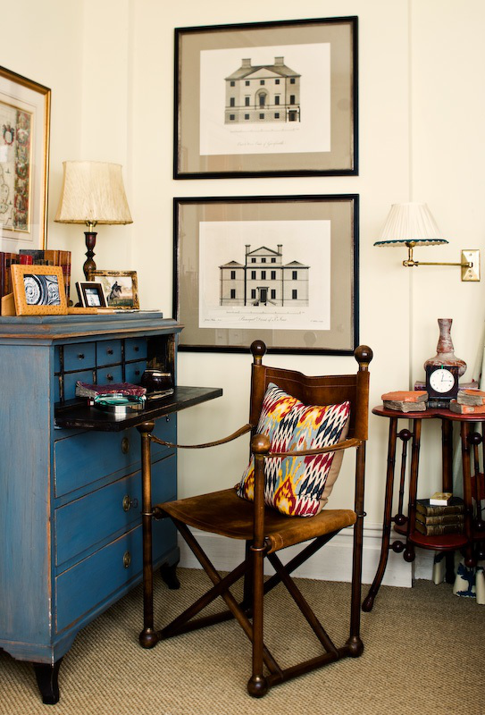 Guest bedroom desk by Sara Gilbane Interiors