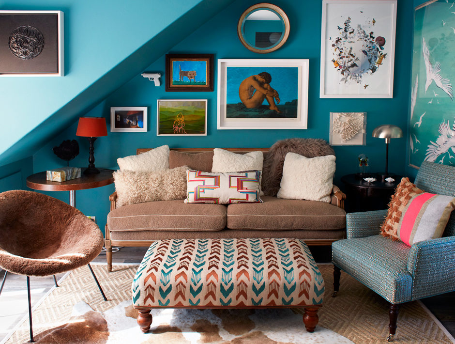 A colorful design from Sheila Bridges