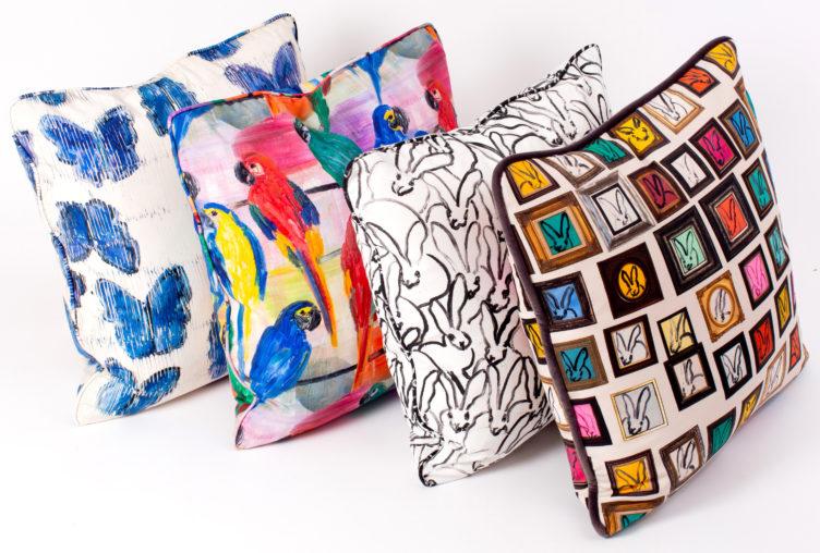 Hunt Slonem pillows