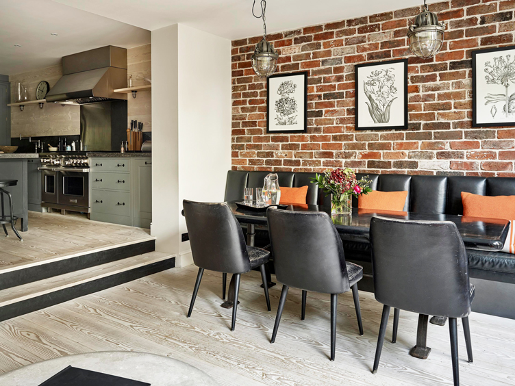 This image has an empty alt attribute; its file name is dining-area-through-to-kitchen-kensington-london-9.jpg