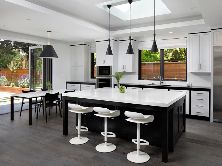 This image has an empty alt attribute; its file name is walnut-retreat-chanel-no5-modern-kitchen-and-dinin.jpg